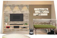 壁掛けテレビボードのDIYに初挑戦! Hidden Tv, Flat Screen, Theatre, Home Decor, Theatres, Flatscreen, Interior Design, Home Interior Design, Theater