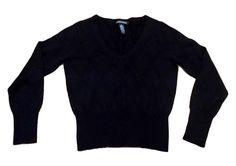 Banana Republic Womens Medium Black Knit Sweater See Through Argyle Merino Wool  #BananaRepublic