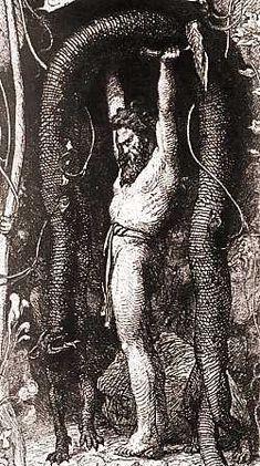 Thor lifting the Utgard cat - norse-mythology Photo