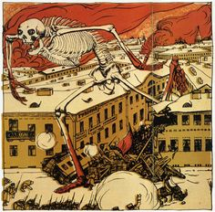 Satirical Russian revolution art 1905-06
