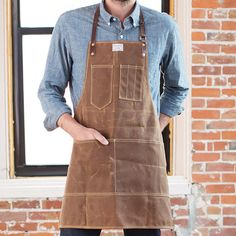 I begin every workday with the ritual of putting on my apron. Its pockets contain my awl, a measuring tape, a metal ruler, a folded rag for leaky
