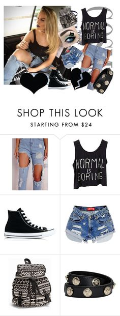 """""""Untitled #8"""" by nerma1278 ❤ liked on Polyvore featuring Converse, NLY Accessories and Versace"""