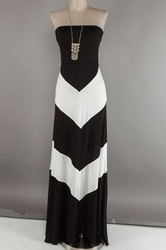Awesome day to night........Black and White Color Blocked Dress | Happy Gal