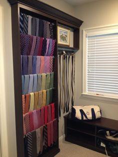 Customer Photos: Custom Built Tie Rack