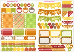 Fall Sticker Set for your Planner scrapbook by aHeartFeltLife