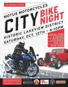 The Motus Motorcycle City Bike Night car and motorcycle show