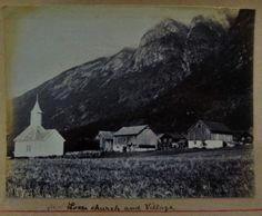 Loen church and village Norway
