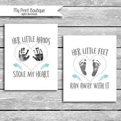 Catholic Christmas Crafts For Kids - Ribbon Crafts To Sell Dollar Stores - - Mothers Day Crafts For Kids For Grandma Canvas Mothers Day Crafts For Kids, Fathers Day Crafts, Crafts With Babies, Baby Crafts To Make, Baby Footprint Art, Diy Bebe, Handprint Art, Baby Handprint Ideas, Baby Footprints