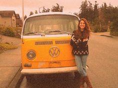 Yellow. VW. Van. I want this!!!