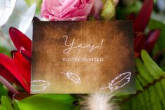 Bridal Flowers, Youre Invited, Event Venues, Flower Decorations, Flower Arrangements, Stationery, Romance, Invitations, Creative