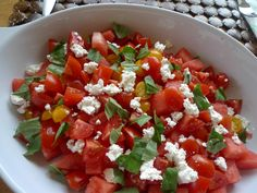 the-kitch-witch-recipes, tomato, watermelon and feta salad, summer salads, refreshing salads for hot weather