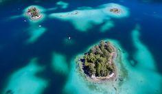 Urlaub in Deutschland - Karibik-Eiland? Nein, karibisch-blauer Eibsee! Keine zehn Kilometer südwestlich...