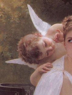Angel-scarlett: Le Travail Interrompu by William Adolphe Bouguereau, 1891 - aesthetic Angel Aesthetic, Aesthetic Vintage, Aesthetic Art, Aesthetic Pictures, Aesthetic Clothes, William Adolphe Bouguereau, Renaissance Kunst, Renaissance Paintings, Angel Wallpaper