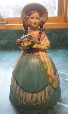 Rare Lead Woman Doorstop Made In 1919 - Beautiful #Unknown