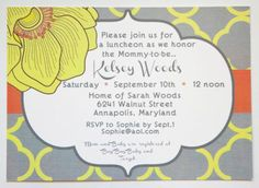 Tips on Personalizing Discount Baby Shower Invitations Custom Baby Shower Invitations, Baby Shower Invitation Cards, Sarah Wood, Things To Buy, Rsvp, Bridal, Desktop Publishing, Handmade Gifts, Catering Services