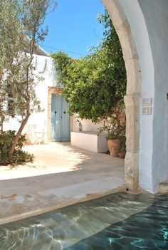 Djerba Island house rental-- courtyard (Tunisian Coast)