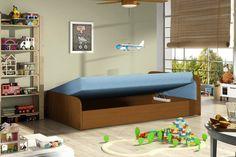 Válenda PARYZ je čalúnenou válendou s praktickou opierkou hlavy. Je vhodná na stále spanie. Sedacia, resp. spacia časť je tvorená bonelovou pružinou. Ponúka Vám spací priestor o rozlohe 195 x 80 cm. #byvanie #domov #nabytok #postel #postele #jednolozka #modernynabytok #designfurniture #furniture #nabytokabyvanie #nabytokshop #nabytokainterier #byvaniesnov #byvajsnami #domovvashozivota #dizajn #interier #inspiracia #living #design #interiordesign #inšpirácia #valandy Toy Chest, Storage Chest, Toddler Bed, Cabinet, Toys, Furniture, Home Decor, Products, Child Bed