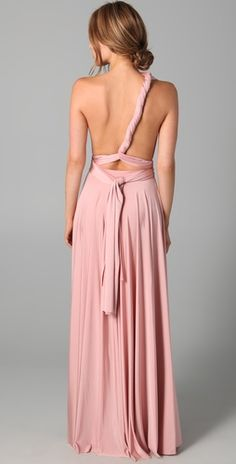 would you let your bridesmaids wear this? pretty sexy back.