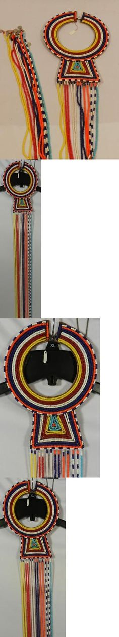 Necklaces and Pendants 98481: African Maasia Masai Ethnic Tribal Ceremonial Beaded Collar Necklace-Cleopatra -> BUY IT NOW ONLY: $89.99 on eBay!