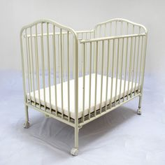 LA Baby Compact Metal Folding Crib - The last time we got portable, convenient comfort like the LA Baby Compact Metal Folding Crib - Chocolate , we had the wall-mounted Murphy bed. Small Crib, Iron Crib, White Tv, Kids Bedroom Designs, Church Nursery, Business Intelligence, Metal Beds, Business For Kids