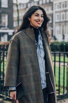 January 8, 2016  Tags Caroline Issa, Plaid, Denim, London, Men, Layering, Coats, Turtlenecks, FW16 Men's, 1 Person #womenscardigan #womensouterwear #womensjacket #scarves #scarf #fashion