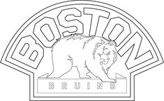 Print boston bruins logo nhl hockey sport coloring pages rug hook
