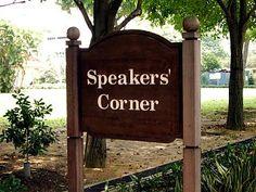 Speakers' Corner in Hyde Park Singapore Island, Singapore Travel, London Travel, Hyde Park, London Sign, London Drawing, Denmark Travel, Big Ben London, Carcassonne
