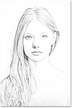 The sketch effect after applying the Gaussian Blur filter. Image © 2014 Photoshop Essentials.com