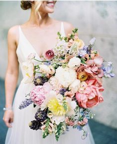 Pink Wedding Inspiration Ideas, Part 1 Pastel Bouquet, Bridal Bouquet Pink, Flower Bouquet Wedding, Bridesmaid Bouquet, Spring Bouquet, Boho Wedding, Floral Wedding, Wedding Colors, Wedding Reception