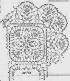Patterns and motifs: Lace motifs Crochet Doily Diagram, Crochet Motif Patterns, Crochet Borders, Crochet Chart, Crochet Squares, Loom Patterns, Thread Crochet, Filet Crochet, Irish Crochet