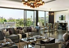Property for sale - Cheval House, Cheval Place, Knightsbridge, London, My Living Room, Living Room Interior, Home And Living, Living Area, Living Spaces, Luxury Interior, Interior Design, Country Living Uk, American Interior