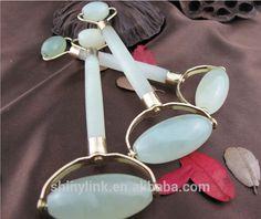 Best seller Natural pure Jade Two Head Massager Roller For face massager