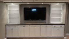 #BuiltIn #Cabinetry, Finished #Basement  #basementremodel #remodel #remodeling #cle #after #designbuild #basementideas