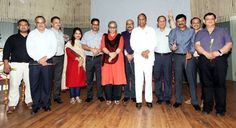Newly elected members of the Managing Committee of Jammu Club after the results were declared on late Sunday evening.