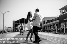 Engagement Session in Asbury Park, NJ. Hindu Wedding in New Jersey. fun e-session, photo shoot by Best Wedding Photographer PhotosMadeEz. Award Winning Photographer Mou Mukherjee. E session in beach. Beach theme  Featured in South Asian Bridal Magazine