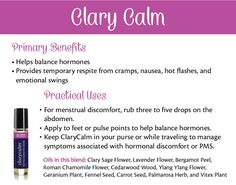 doTERRA Clary Calm Essential Oil ~ To explore and purchase essential oils visit: https://www.mydoterra.com/sarajanelle/#/ or on Facebook https://www.facebook.com/doterrasarajanelle/