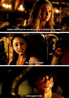 OH THANK YOU RAVEN/ALIE FOR THIS #bellarke #the100 Season3 Beloved Episode11