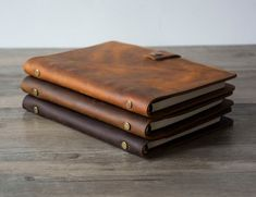 Refillable Journal, Refillable Planner, Leather Binder, Leather Notebook, Distressed Leather, Brown Leather, Thick Leather, Classic Leather, Canvas Leather