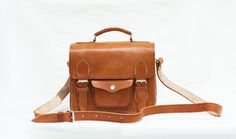 Brown Cow Leather Retro Camera Bag Square by CoruscateLeatherBag, $120.00