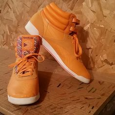 SWEET Reebok Collector s Edition Super cute pair of bright orange Urban  Outfitters Collector s Edition Reeboks. eee927abf