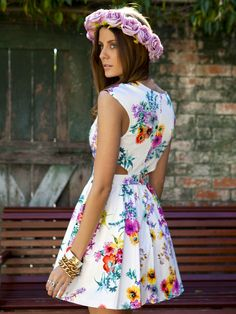 Locked Secret Dress at Mura Boutique  Floral printed dress Skater skirt with tulle underlay 2013