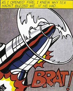 """As I Opened Fire..."", 1964. Roy Lichtenstein"