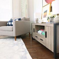 """Walker Edison's Urban Blend 60"""" TV Stand!   #walkeredison #furniture #interiordesign #tvstand #familyroom #livingroom #liveoutsidethebox"""