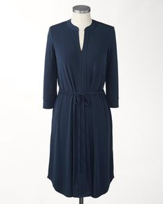 Nouvelle knit dress | Coldwater Creek. A beautiful and comfortable as well as flattering dress. Wear with a great necklace and bracelets. Can also layer this over leggings and jeans in winter.