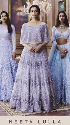 House of Neeta Lulla Ss can find Neeta lulla and more on our website.House of Neeta Lulla Ss 2018 Indian Gowns Dresses, Indian Fashion Dresses, Indian Designer Outfits, Pakistani Dresses, Fashion Outfits, Indian Attire, Indian Ethnic Wear, Ethnic Suit, Mehndi