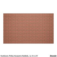 Southwest, Tribal, Geometric Reddish Print Fabric