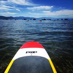 Poppaddleboard on Tahoe. My happy!