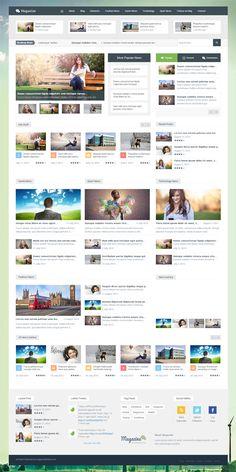 Magazine - Responsive Multipurpose WordPress Theme #wordpressthemes #responsivedesign #flatdesign