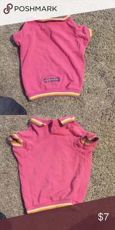 Pink dog polo Good condition, best on a 10-15lb dog Accessories