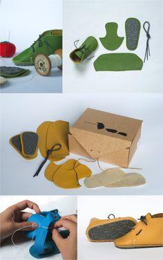 """""""DIY Primeros zapatos de bebe"""""""